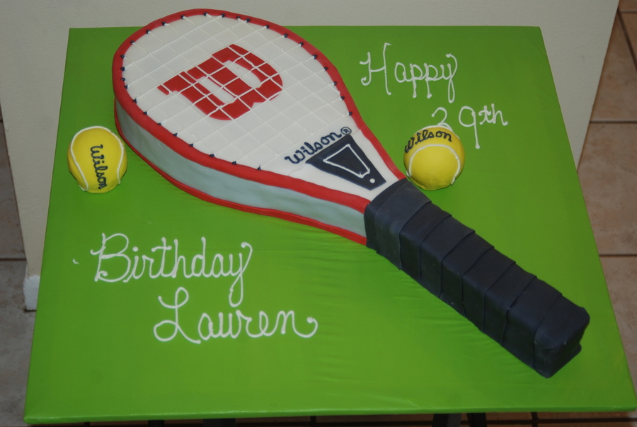 Tennis Racquet on Cake Central