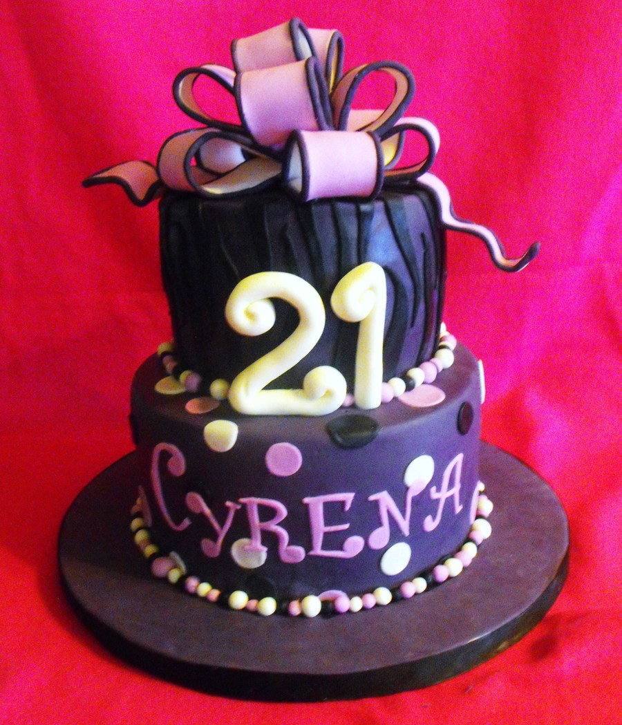 Purple Zebra & Polka Dots on Cake Central