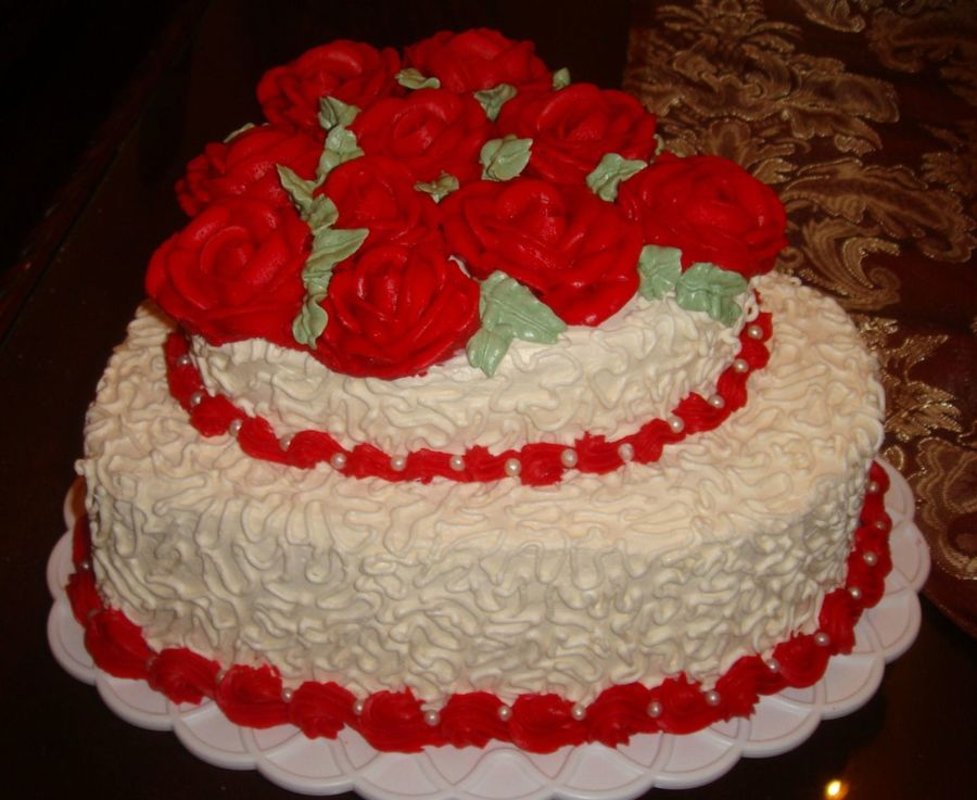 Roses & Lace on Cake Central