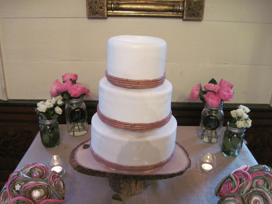 Georgia Wedding Cake on Cake Central