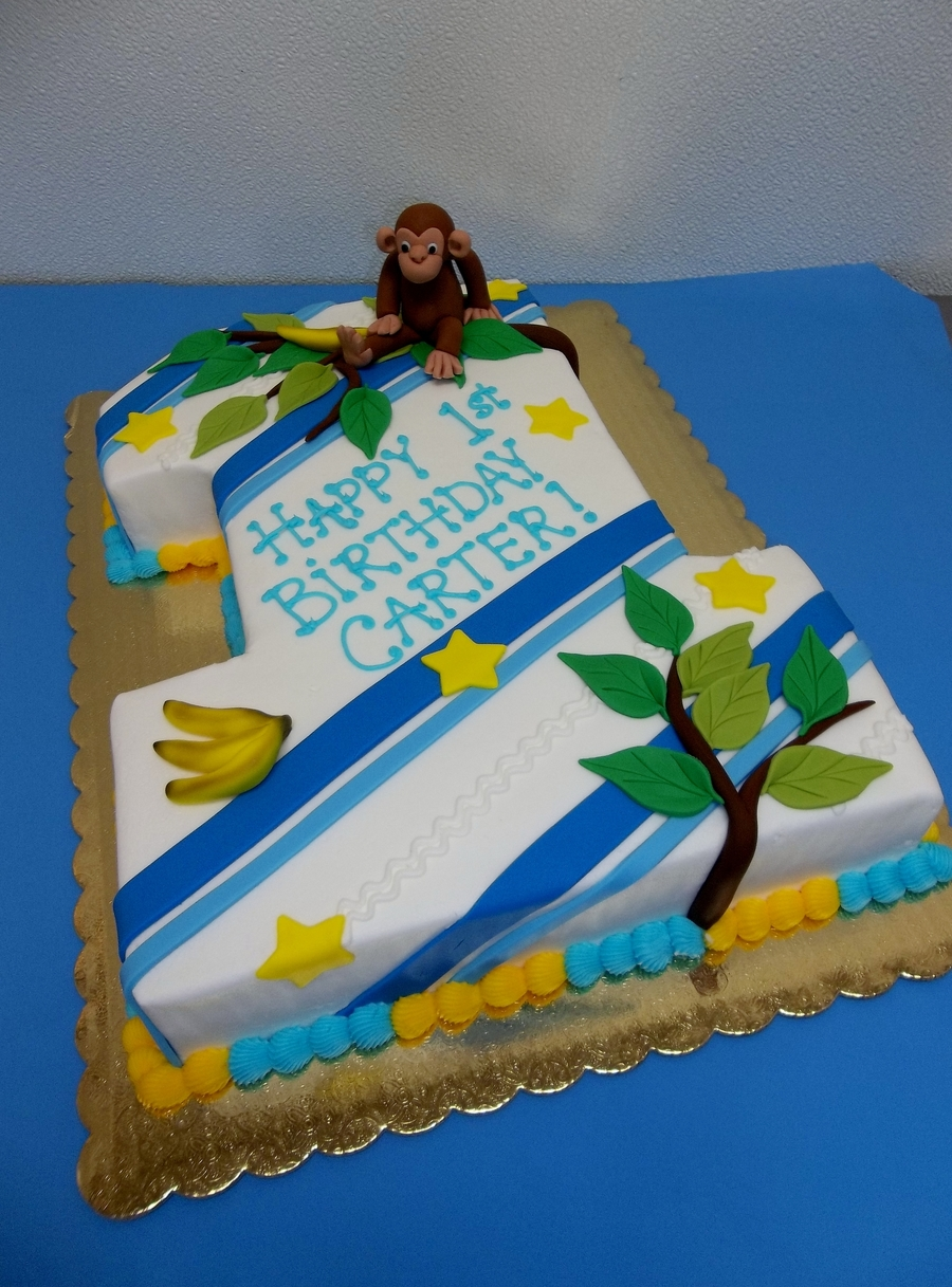 Number One Monkey!  on Cake Central