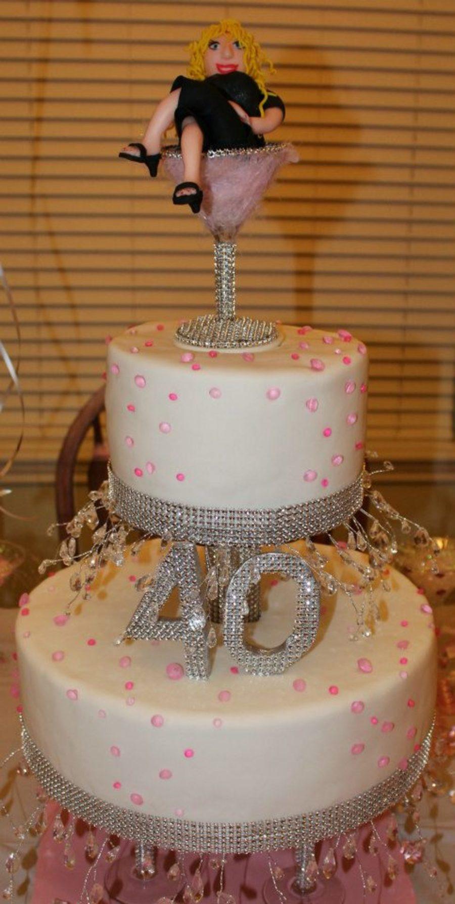 Fondant 40Th Birthday Cake For A Friend - CakeCentral.com