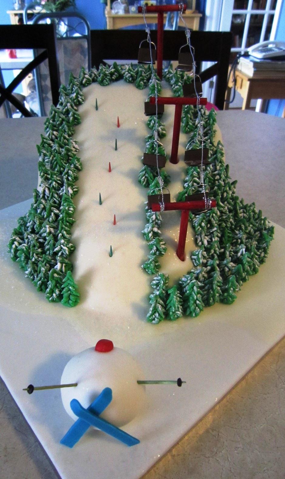 Alpine Ski Race Course Cake Cakecentral