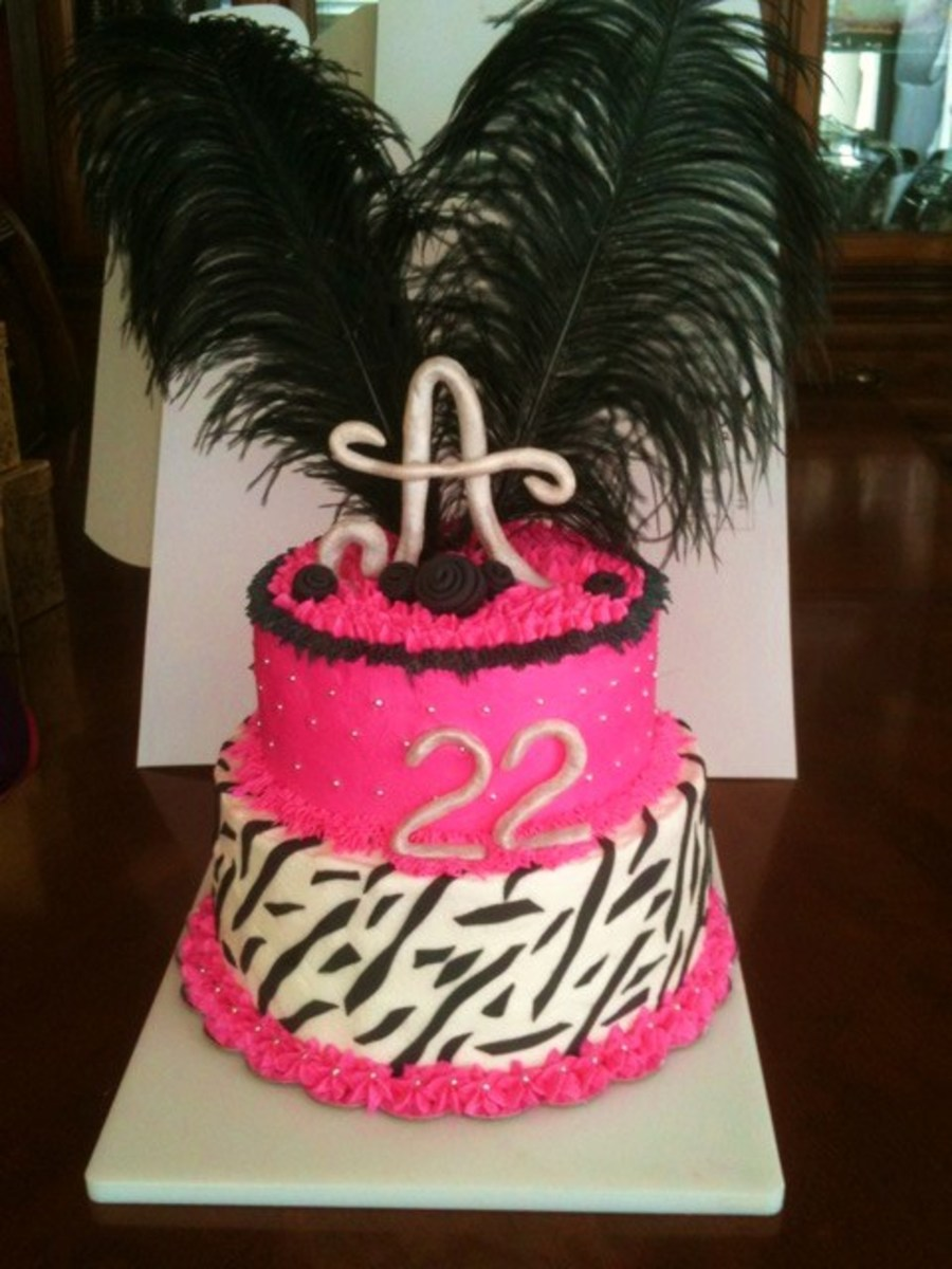 Sassy Birthday Cake  on Cake Central