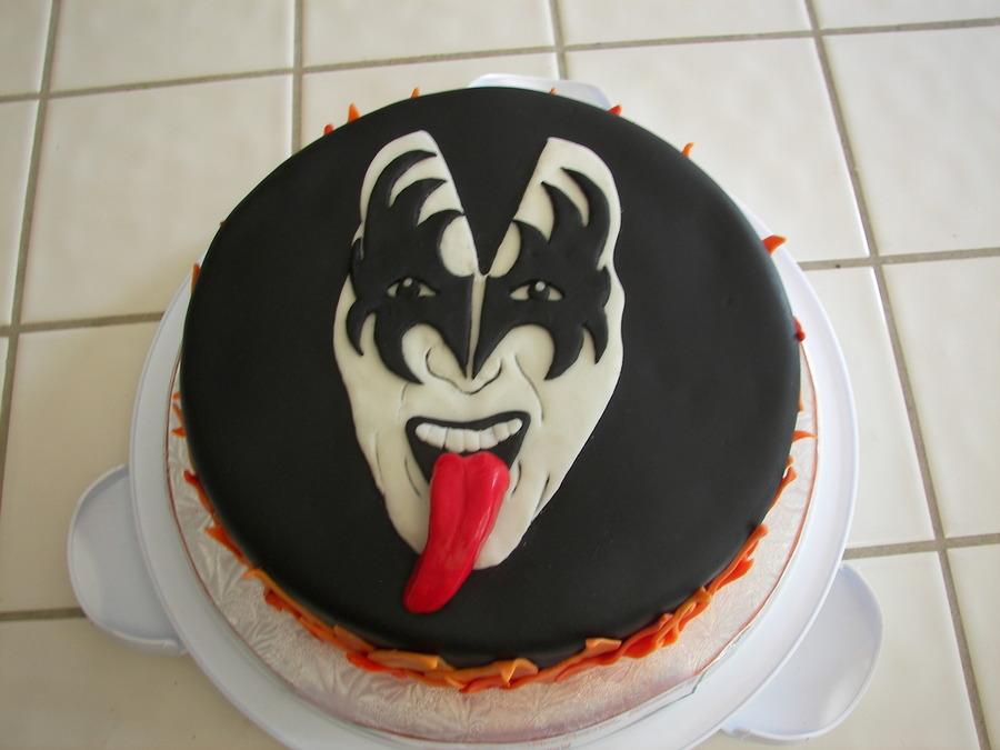 Kiss Gene Simmons Birthday Cake