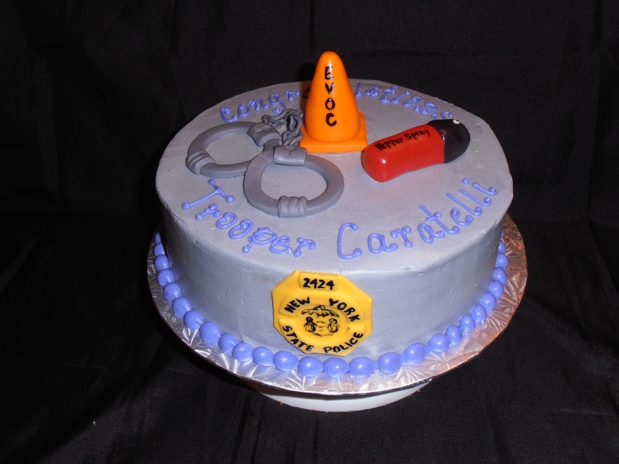Ny State Trooper Academy Graduation Cake on Cake Central