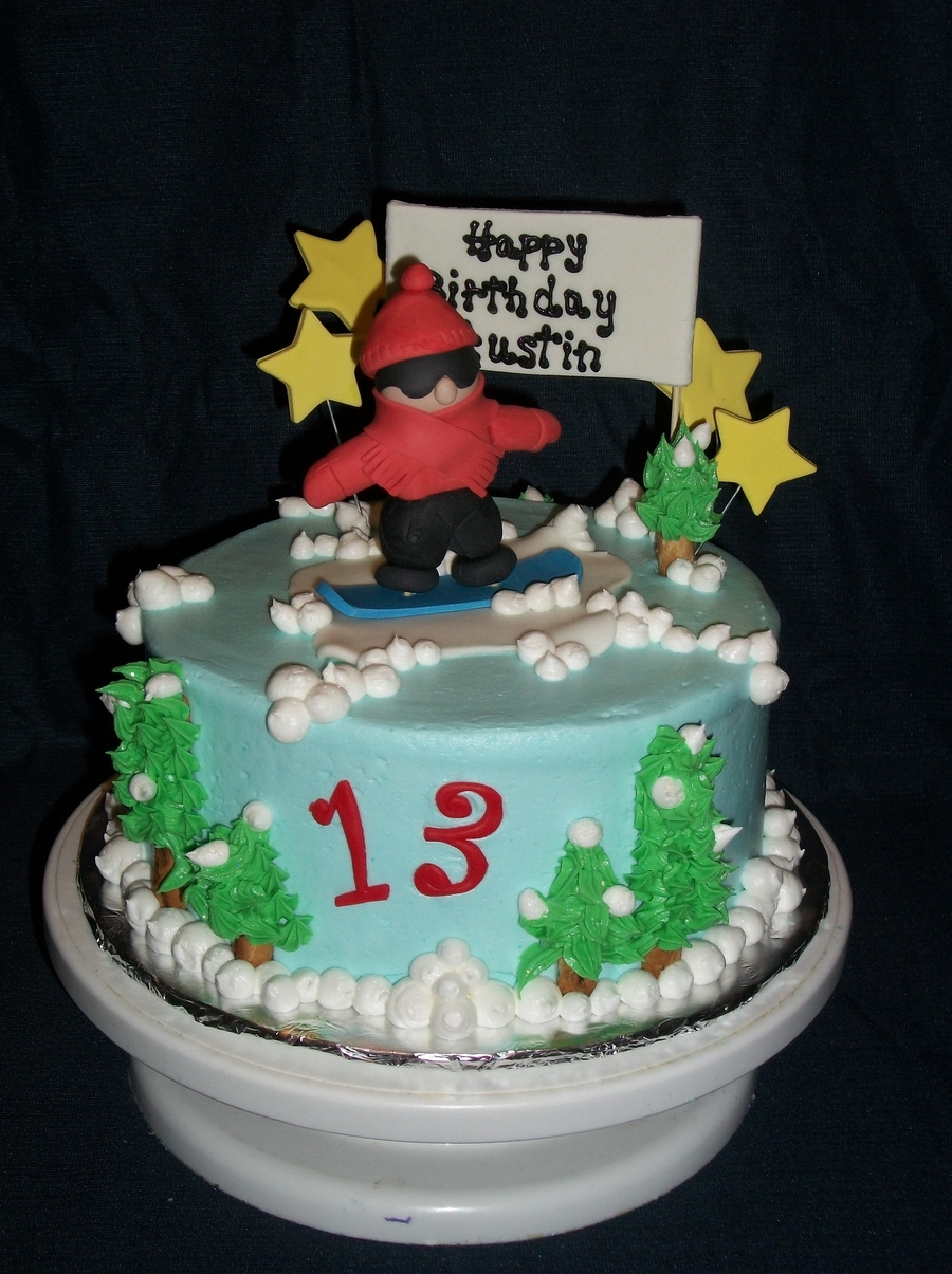 Snowboarder Dude  on Cake Central