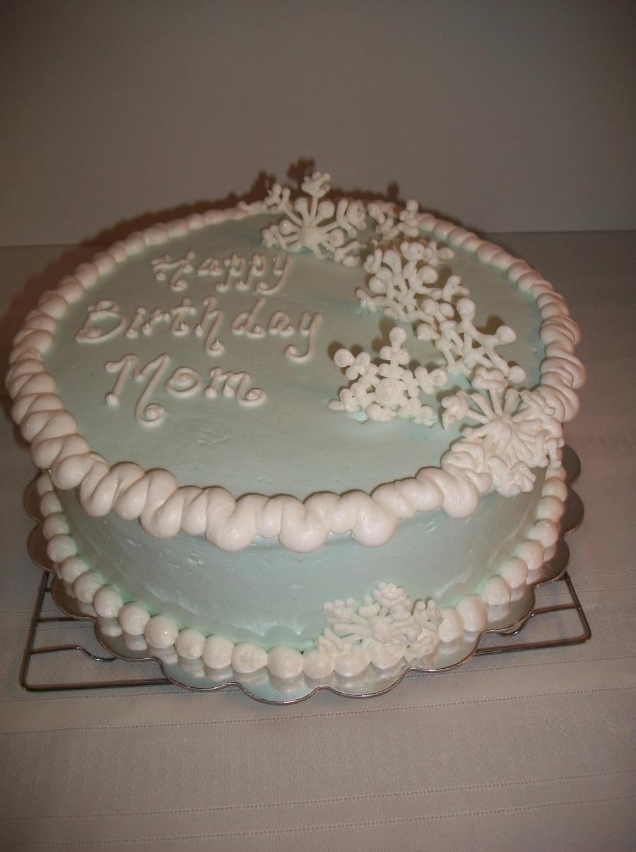 Pleasant Snowflake Birthday Cake Cakecentral Com Funny Birthday Cards Online Fluifree Goldxyz