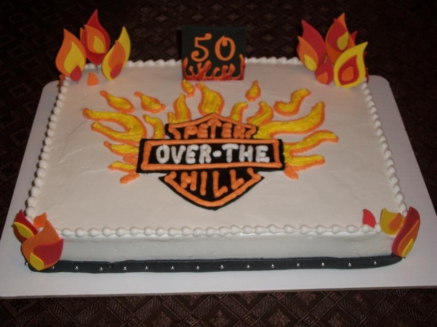 Harley Davidson Themed Cake CakeCentralcom