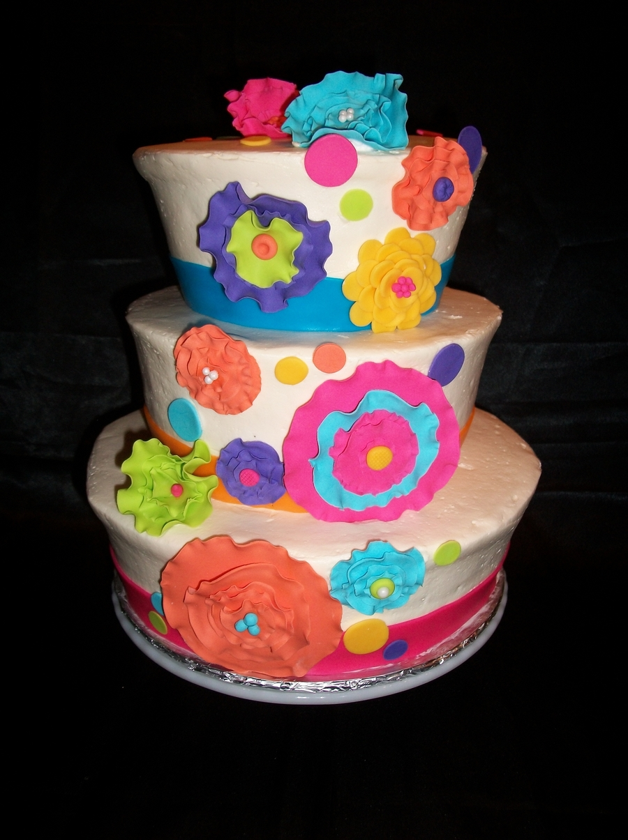 Funky Flowers on Cake Central
