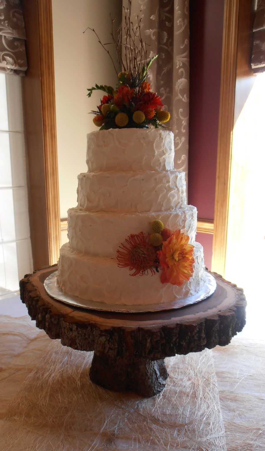 Rustic Autumn Wedding on Cake Central