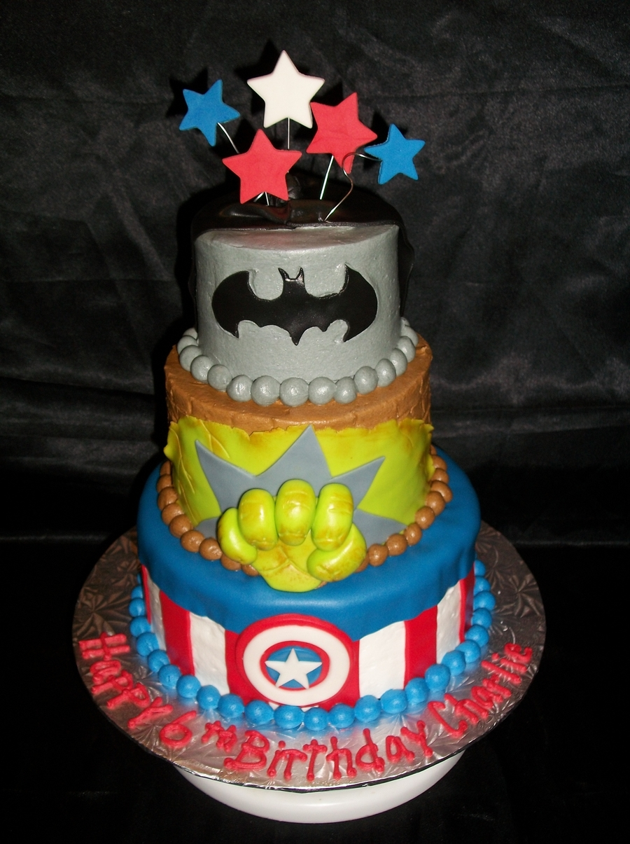 Superheroes! on Cake Central