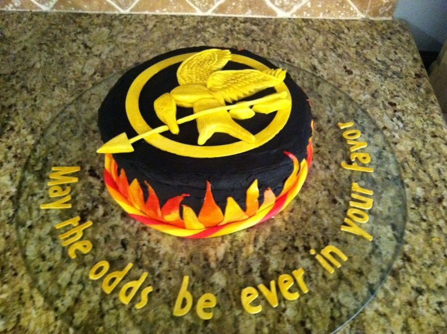 Pleasant Hunger Games Birthday Cake The Mocking Jay Pin Is Made Out Of Gum Funny Birthday Cards Online Elaedamsfinfo