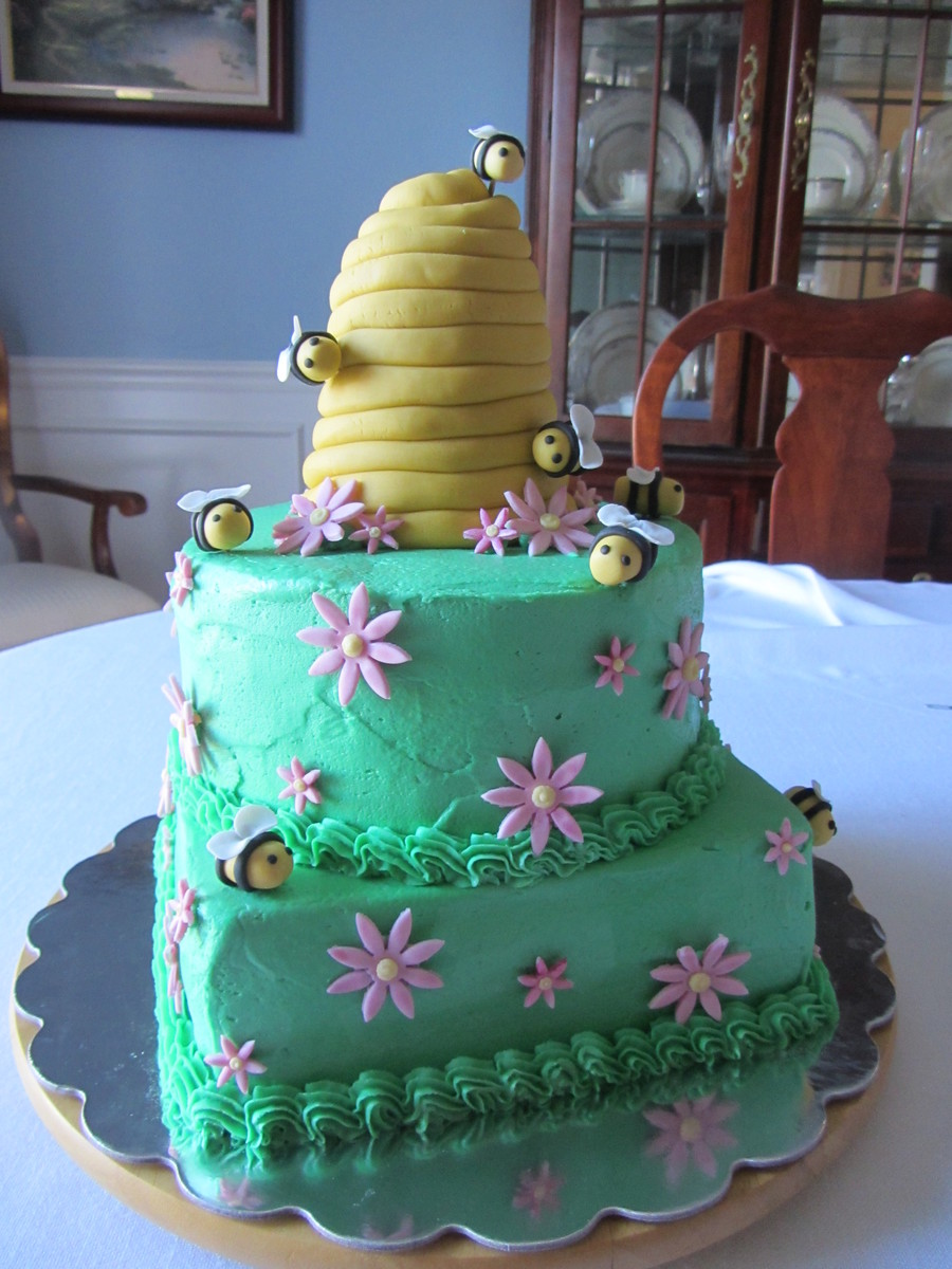 Beehive Baby Shower Cake on Cake Central