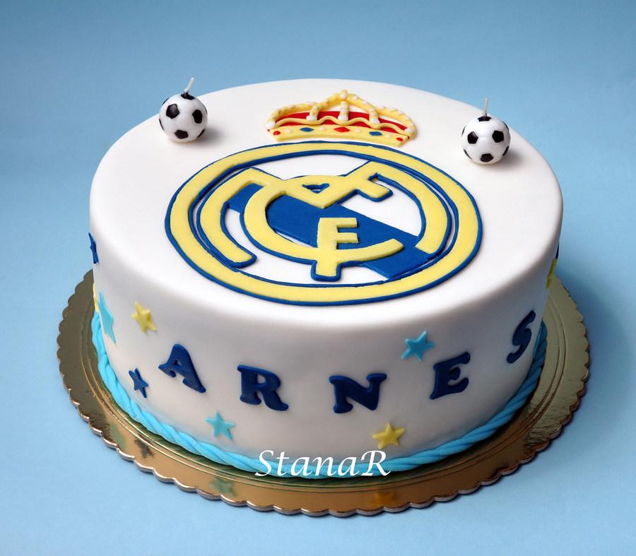Wondrous Real Madrid Cakecentral Com Funny Birthday Cards Online Elaedamsfinfo