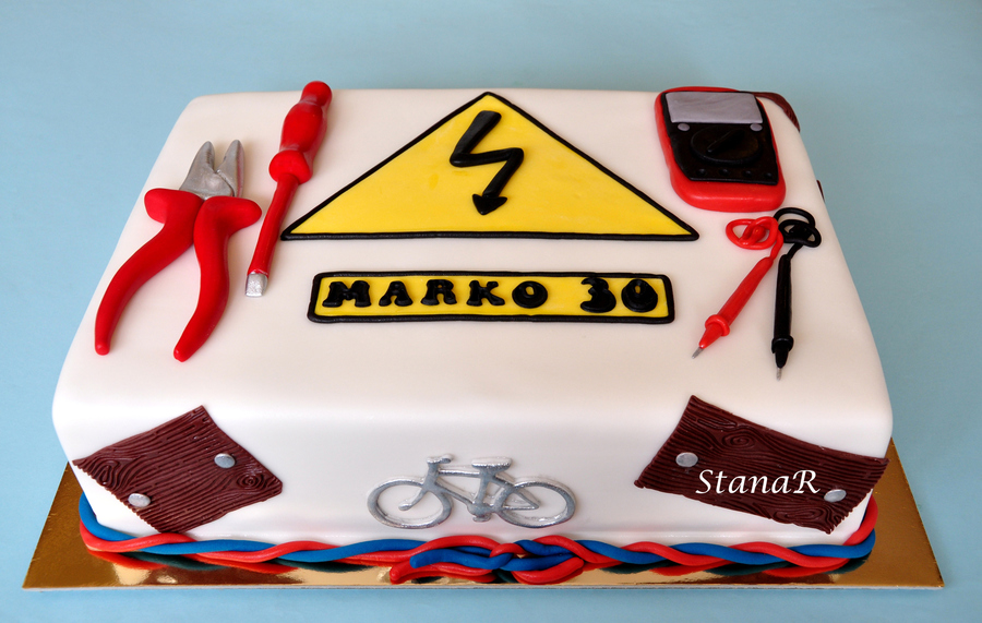 Cake Decorating Ideas Electrician : Electrician Cake - CakeCentral.com