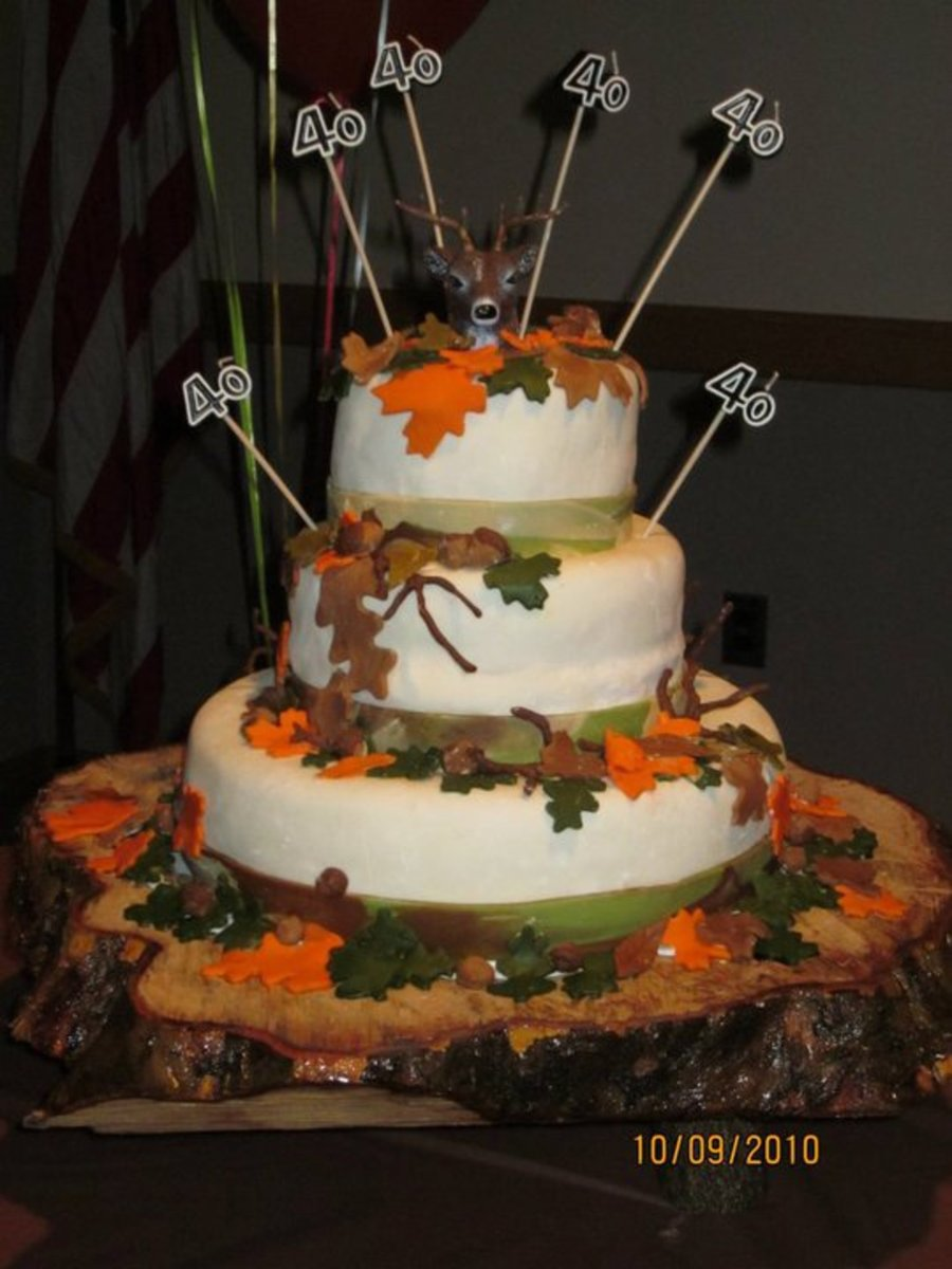 Deer Hunter S 40th Birthday Cake Cakecentral Com