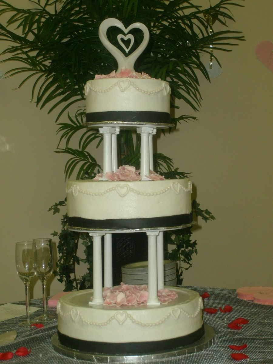 My 3Rd Time Making A Wedding Cake. on Cake Central