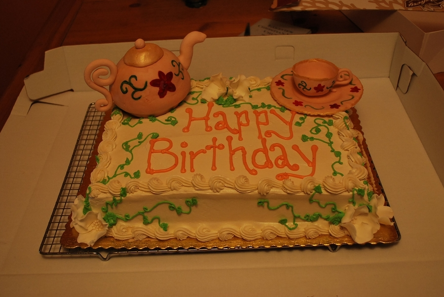 Teapot And Teacup on Cake Central