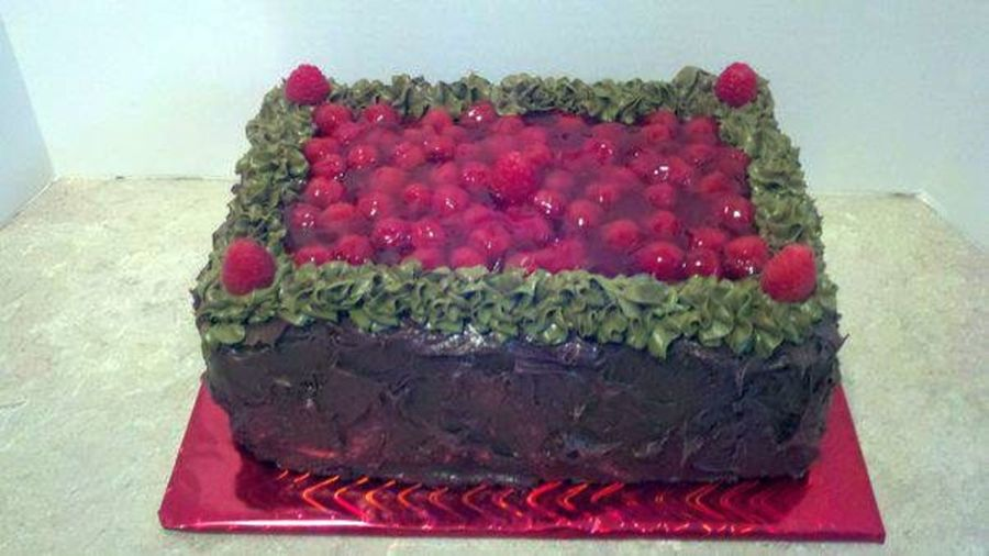 Chocolate & Raspberry Cake on Cake Central