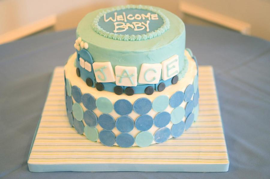 Delightful Train Baby Shower Cake Part - 11: Baby Shower Train Cake On Cake Central