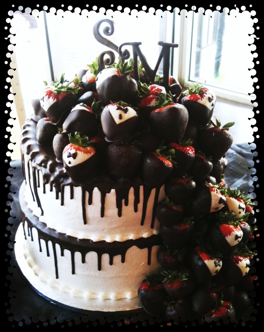 Chocolate Covered Strawberry Grooms Cake on Cake Central