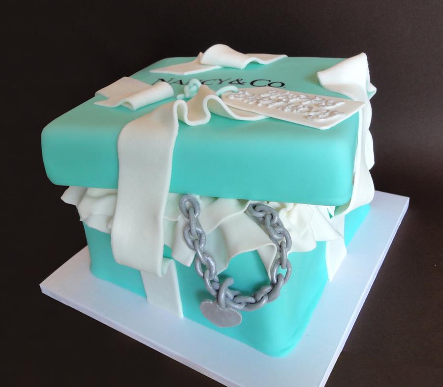 tiffany amp co box cake cakecentralcom
