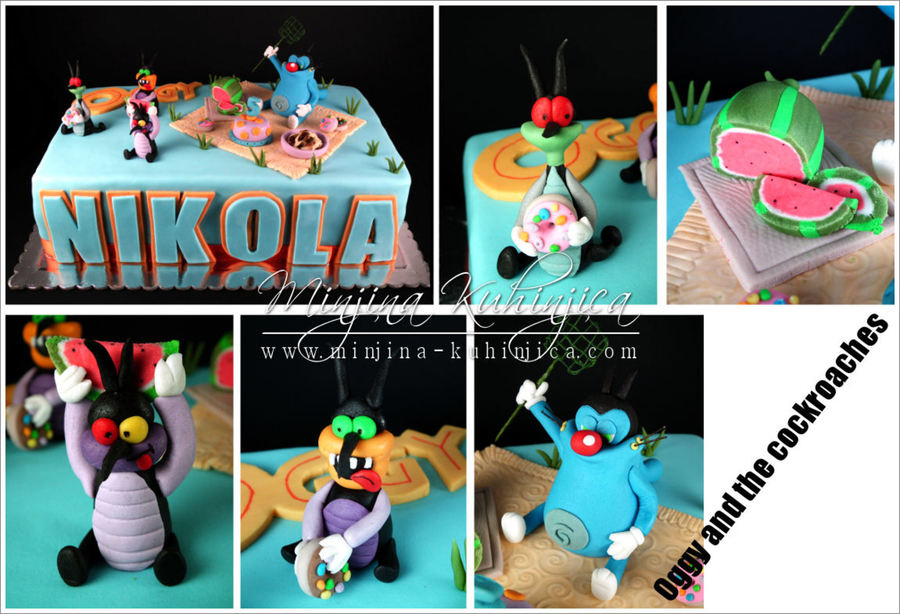Oggy And The Cockroaches on Cake Central