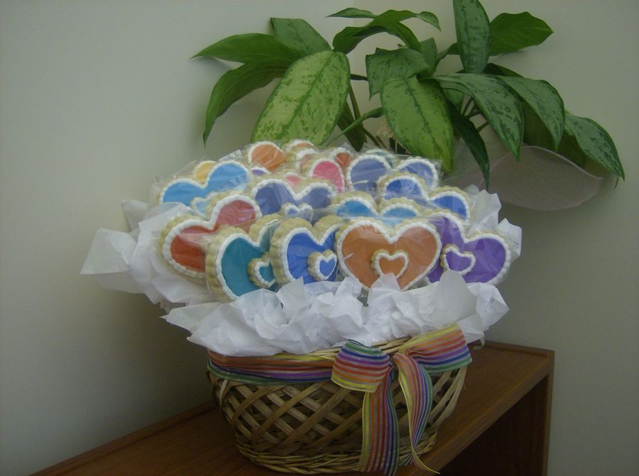 Heart Cookie Bouquet on Cake Central