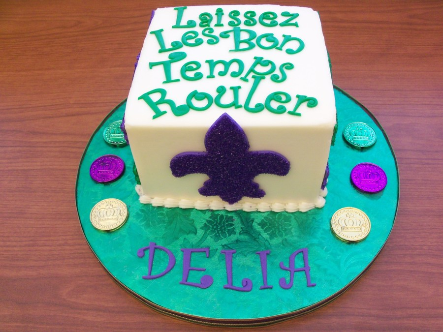 Let The Good Times Roll Mardi Gras Cake on Cake Central