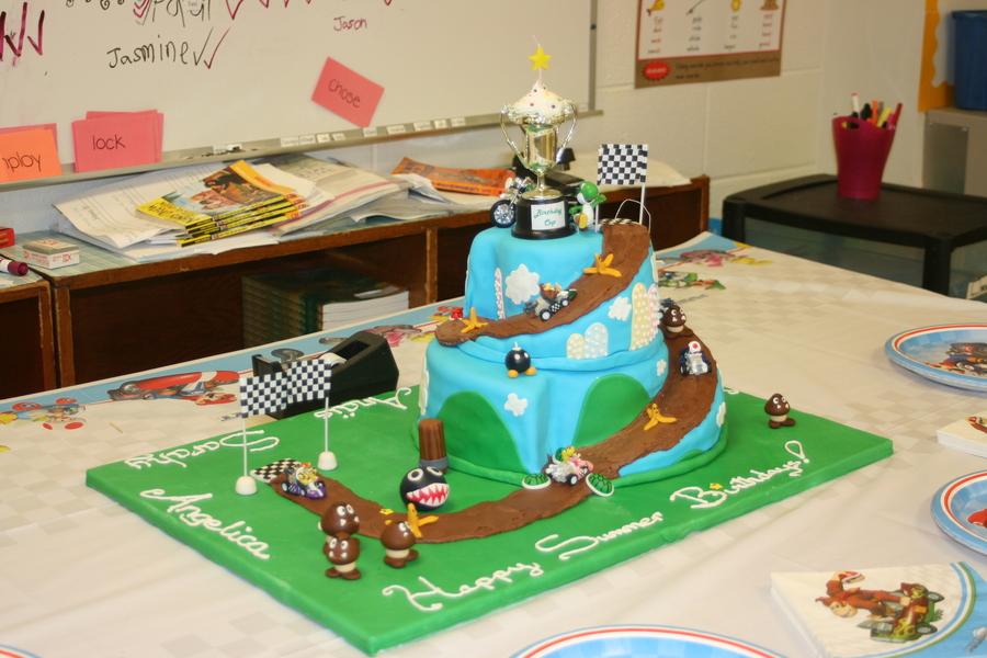 Super Mario Race Track Cake