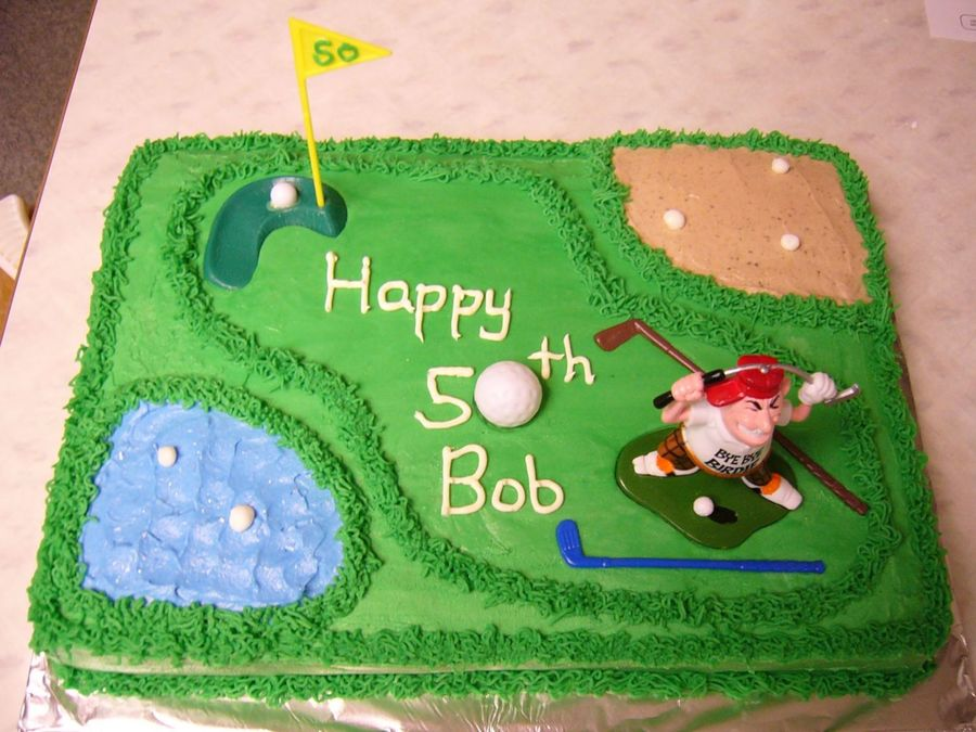 Golf Course Cake Design : Golf Course Cake - CakeCentral.com