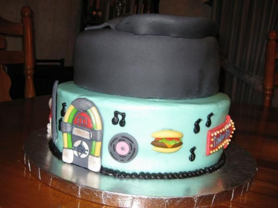 50's Themed Cake- Male on Cake Central