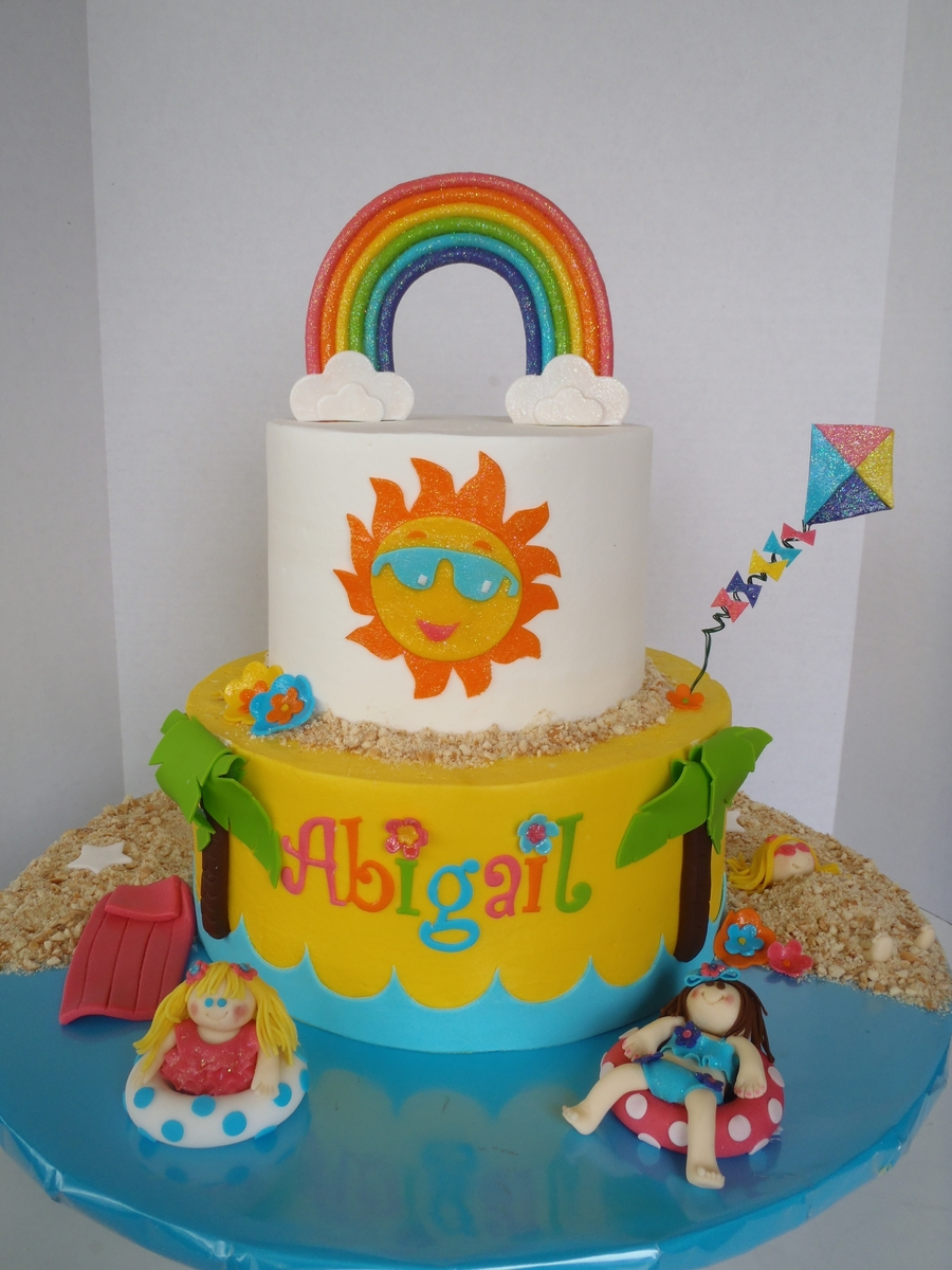 Summer Fun Birthday Cake on Cake Central