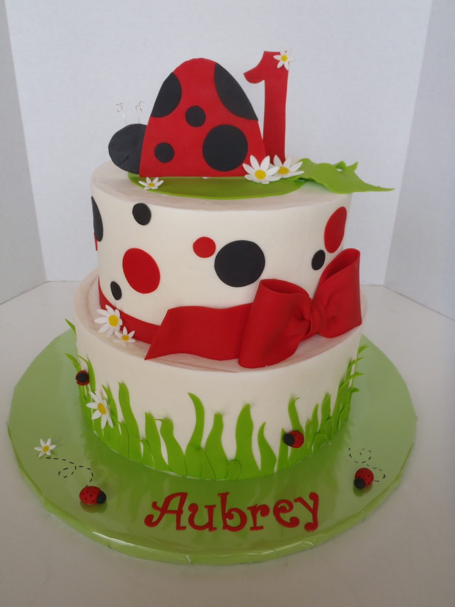 Ladybug First Birthday Cake on Cake Central