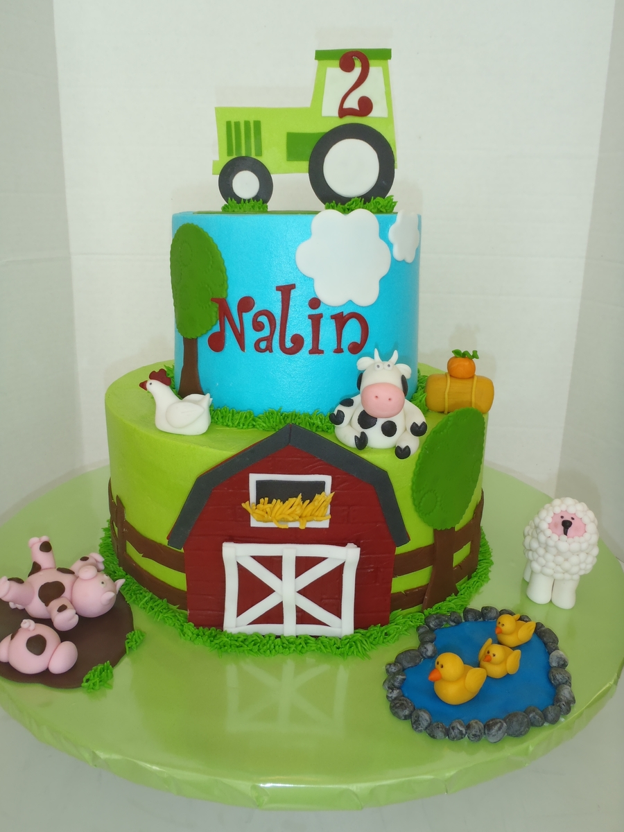 Farm Birthday Cake on Cake Central