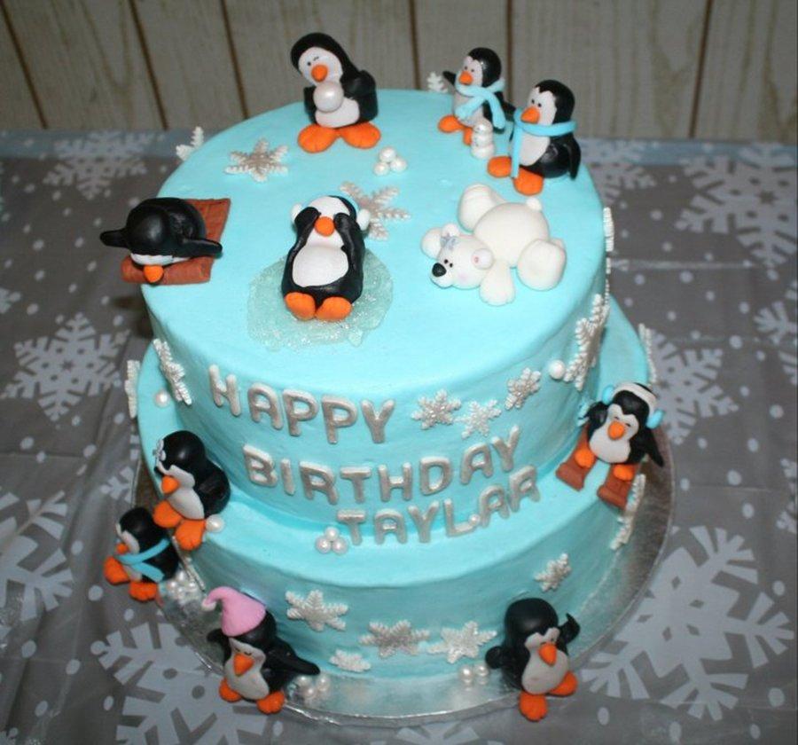 Winter Onederland Cake Penguin Party Cakecentral Com