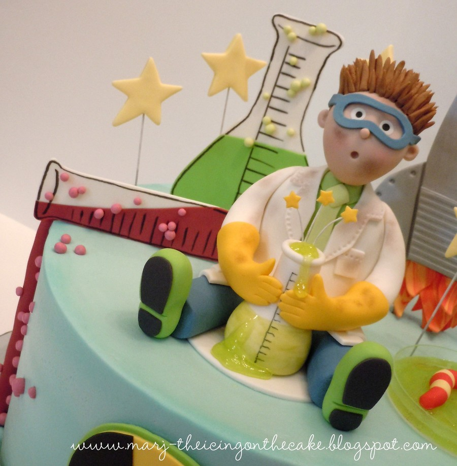Wondrous Mad Scientist Cakecentral Com Personalised Birthday Cards Petedlily Jamesorg