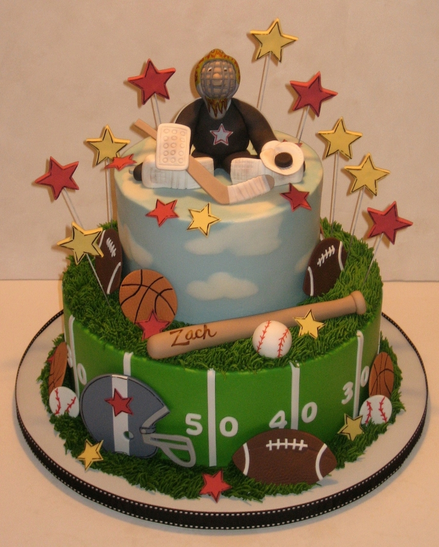 A Sporty Birthday Cake  on Cake Central