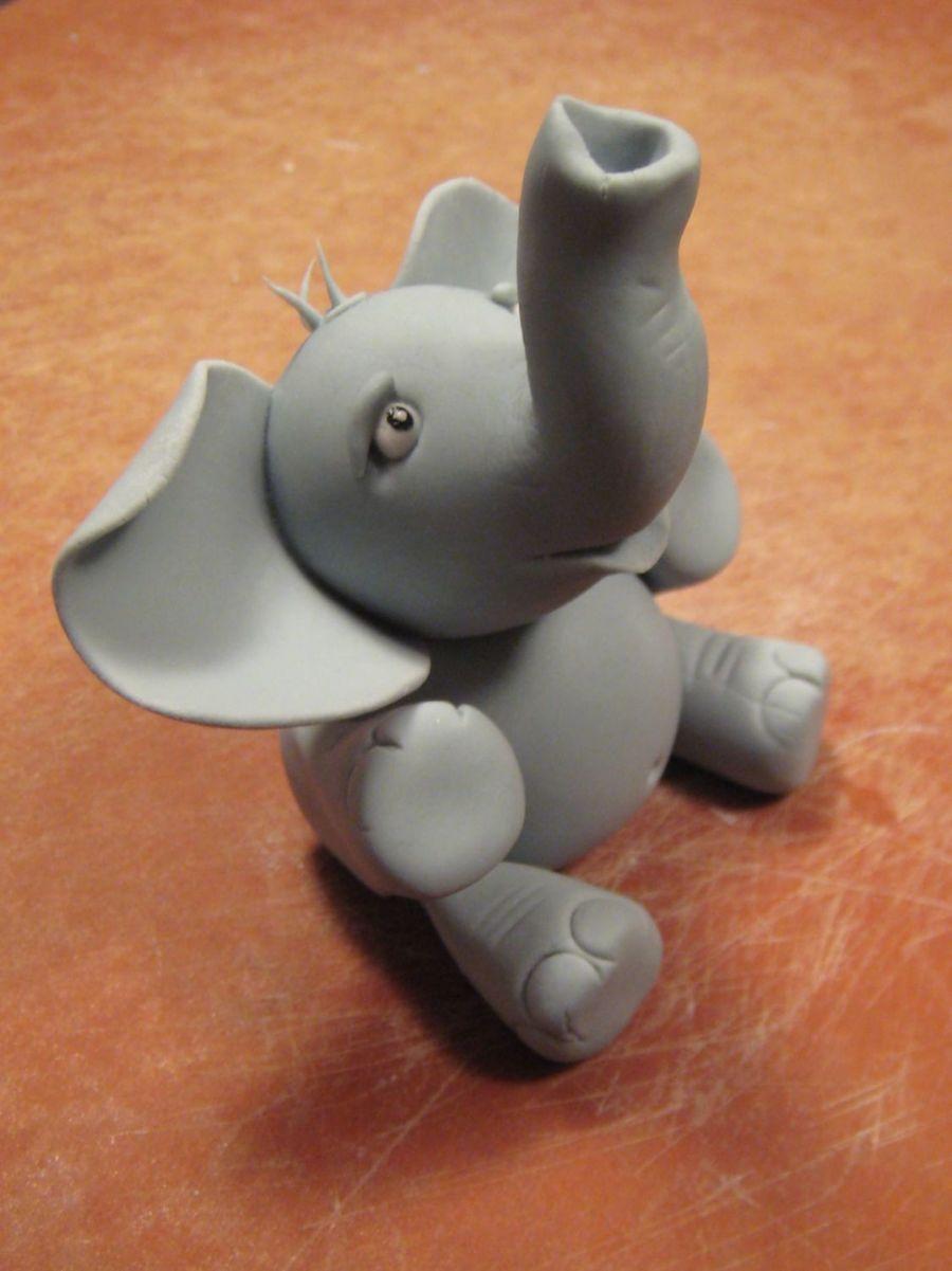 Gum Paste Elephant Cake Topper Tutorial