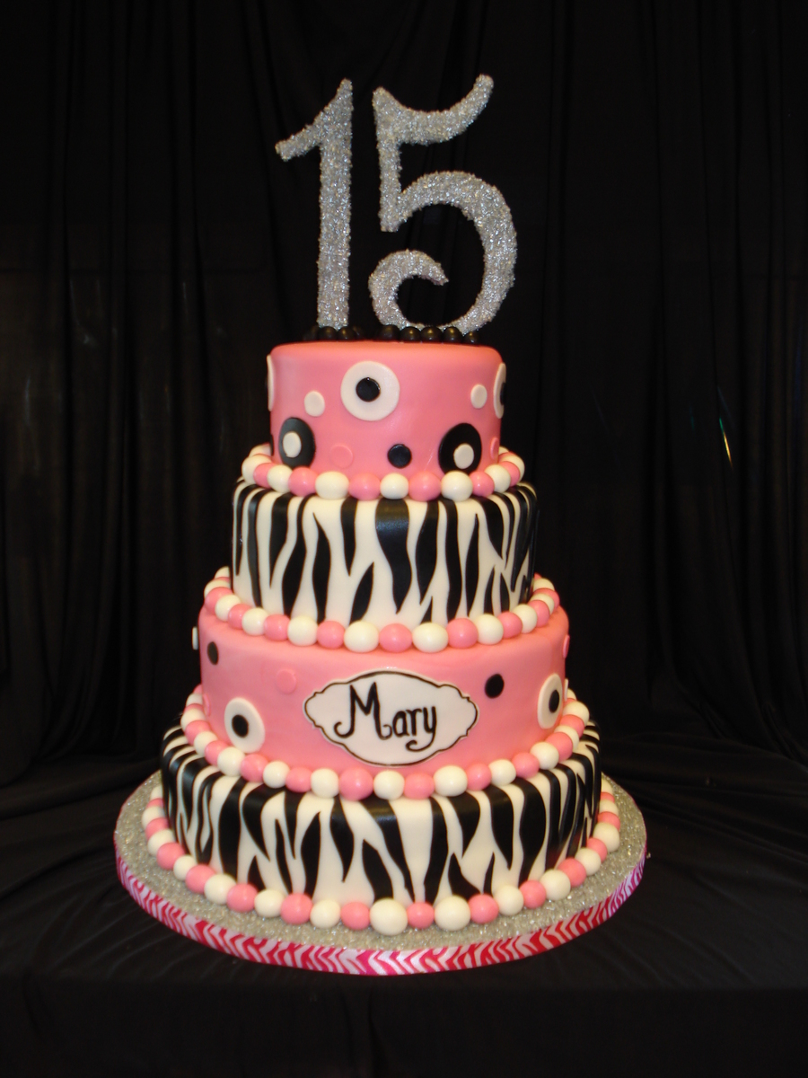 Happy Quinceanera Mary! on Cake Central