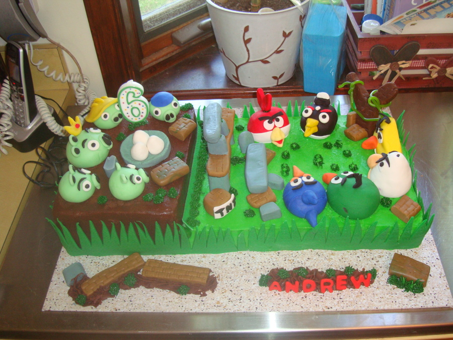 Angry Birds Cake For Grandson Andrew (6) on Cake Central