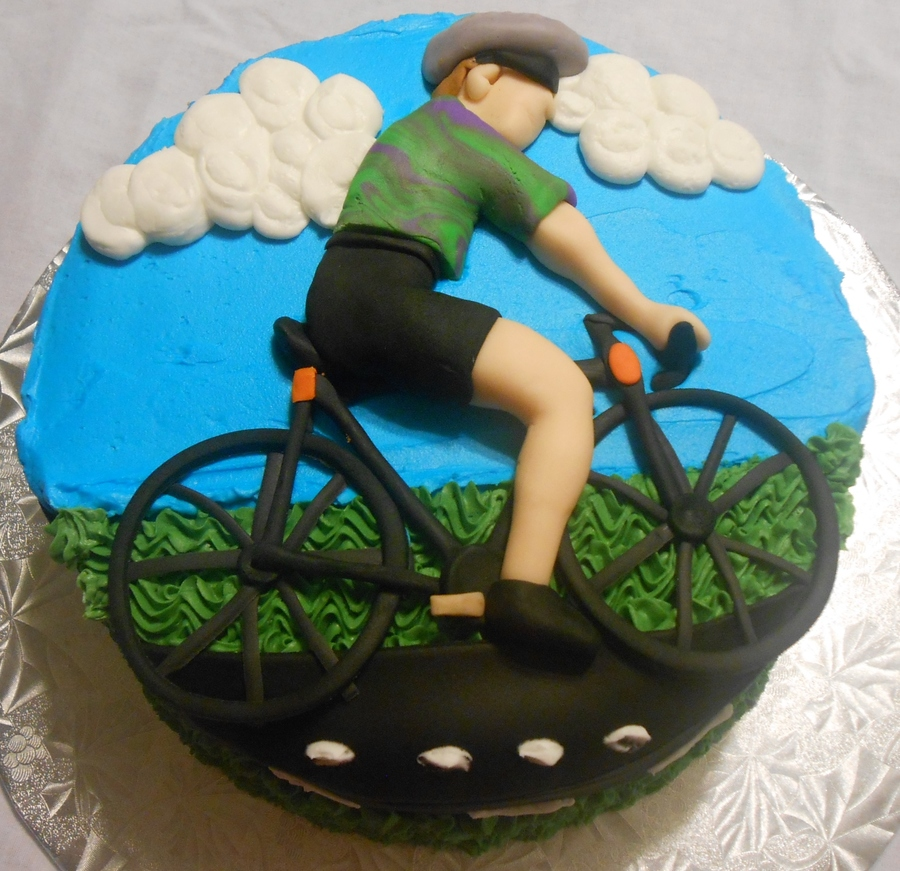 Bicycle cycling biking for Kuchen design