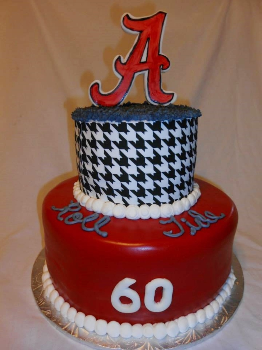 Alabama Birthday Cake Roll Tide Fondant A Sugar Sheet Houndstooth