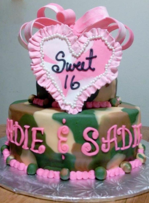 Camo And Pink Camo Cake Sweet 16 Cakecentral Com