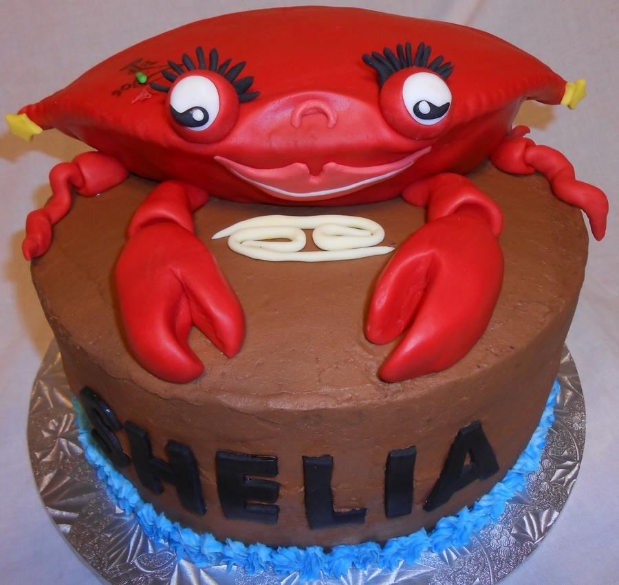 Crab W Tattoo Cancer Zodiac Cake Cakecentral