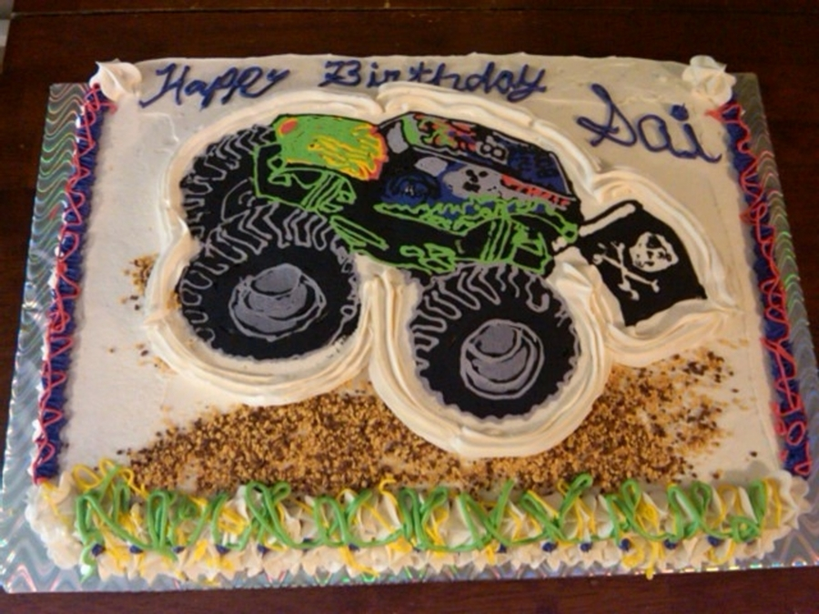 Grave Digger Monster Truck on Cake Central