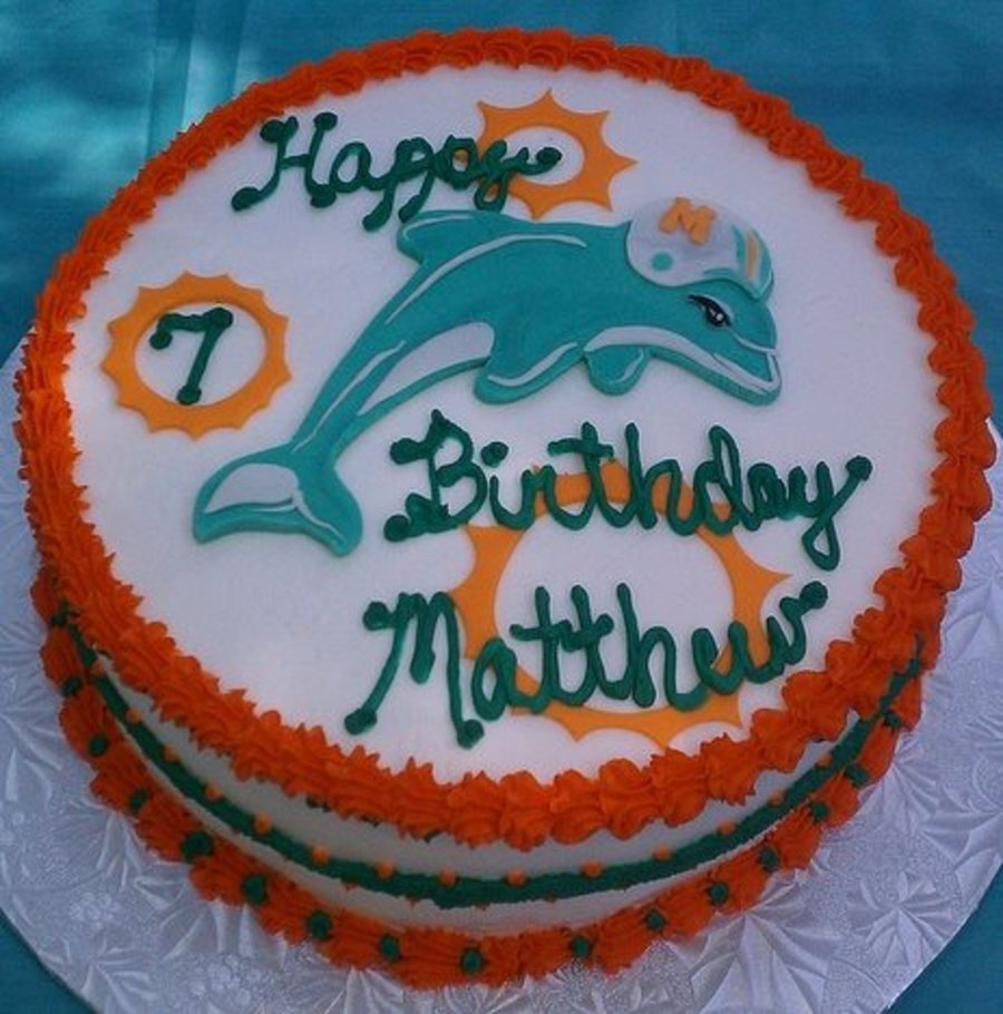Miami Dolphins Football Nfl CakeCentralcom