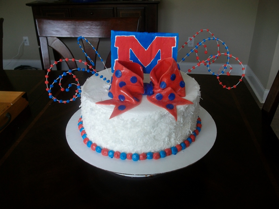 Ole Miss Hotty Toddy Birthday Cake on Cake Central