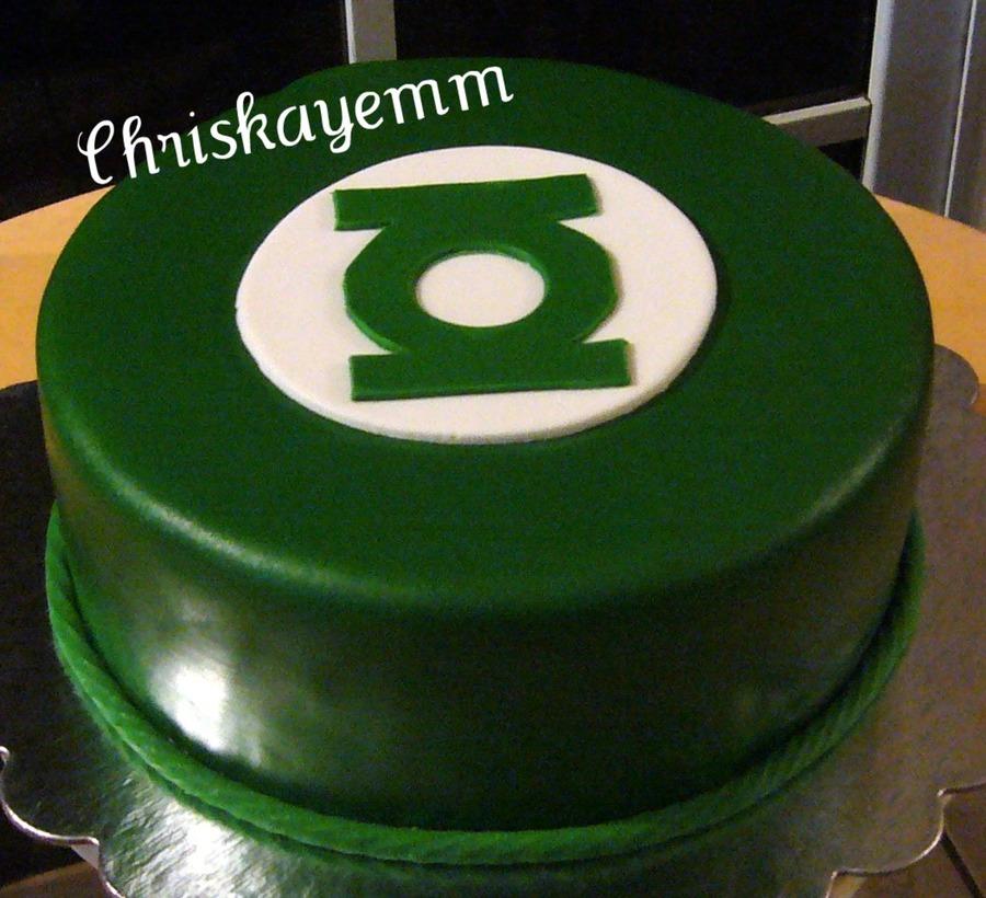 Fine Green Lantern Cake Cakecentral Com Funny Birthday Cards Online Amentibdeldamsfinfo